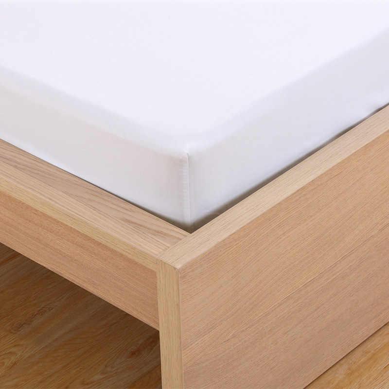 Tecido de poliéster Sólido Cobrir Colchão Macio Elástico Absorvente Respirável Cuidado Protetor de Colchão Para Cama De Solteiro Lençóis 45