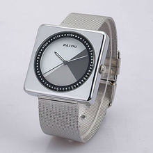 Square Silver Bangle Sports Watches Women's Japan Quartz Full Steel Mesh Bracelet Wristwatches Analog Fashion Dress Clocks Reloj