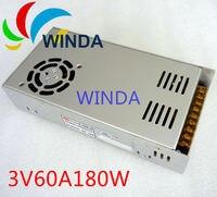 180 Watt led-anzeige schaltnetzteil dreifachausgang 3 V 60A ac dc konverter universelle