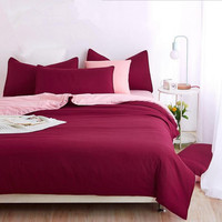 Factory Price! Hot Sale Bedding Set Stitching Color Duvet Cover Bed Sheet Sets Drop Shipping Single Twin Queen King Full Size