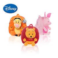 Disney Pooh Backpack Cartoon Children Schoolbag for Kids Winnie Lilo Piglet Plush Safe PP Cotton Stuffed Toys mochila gift