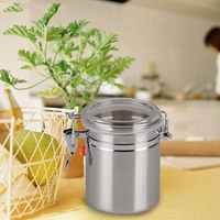 10 12 5cm Kitchen Accessory Stainless Steel Jar With Handle Stainless Steel Sealed Canister Jar Home