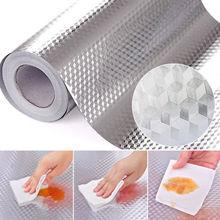 Faroot Алюминий фольга самоклеющиеся водонепроницаемый анти масло плитка обои стикеры DIY