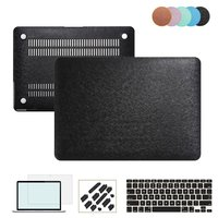 RYGOU Silky Leather Coated Plastic Hard Cover with Keyboard Protector Screen Guard for Macbook Air Pro Retina 11 13 15 inch