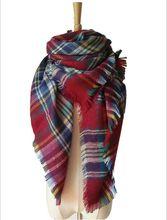 top za winter scarf 2016 Tartan Scarf women desigual Plaid Scarf cuadros New Designer Unisex Acrylic
