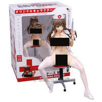 Japanese Anime ER Nurse Kotone 1/6 Scale Sexy Adult PVC Figure Collectible Model Toy White/Pink