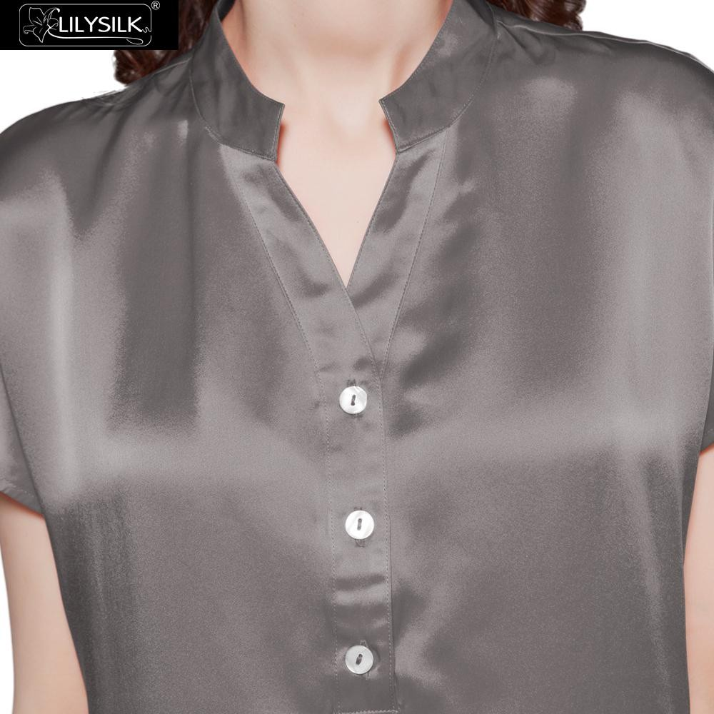 1000-dark-gray-22-momme-half-buttoned-front-silk-pyjamas-set-01