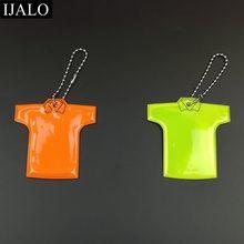 85d0563067522 T قميص نموذج سلسة مفاتيح عاكسة حقيبة قلادة طالب حقيبة مدرسية اكسسوارات  عاكسة أقراط للمرور مرئية سلامة استخدام