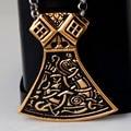 Новый нержавеющей стали эксклюзивный торс молот топор золотое ожерелье для мужчин - с 23 дюймов серебряная цепочка