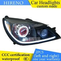 Hireno Custom Modified Headlamp For Mitsubishi Lancer 2006 2008 Headlight Assembly Car Styling Angel Lens Beam