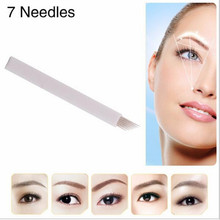 100PCS 7 Needle Eyebrow Tattoo Blades For 3D Embroidery Manual Microblading Pen Permanent Makeup