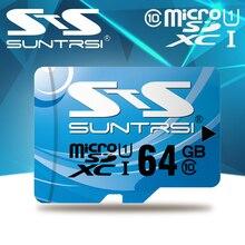 Suntrsi MicroSD высокая скорость карты памяти Micro SD Card реальная емкость 128 ГБ для камеры телефона 64 ГБ TF карты Micro SD Макс Class10 16 ГБ
