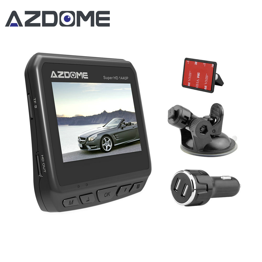 Azdome DAB211 Ambarella A12 2560x1440P Super HD Car DVR Dashboard Camera Video Recorder Loop Recording Dash Cam Night Vision