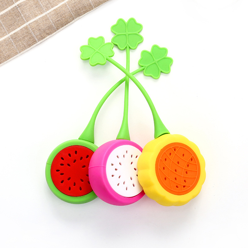 1 Ps Cute Cartoon Fruits Lemon Watermelon Pitaya Shape Tea Strainer Home Kitchen Tea Filter Decoration Accessories Tea Infuser