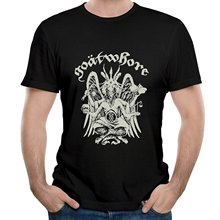 High Quality T Shirts Short Crew Neck   Band Goatwhore Song The All Destroying  Best Friend Mens Shirts цена и фото
