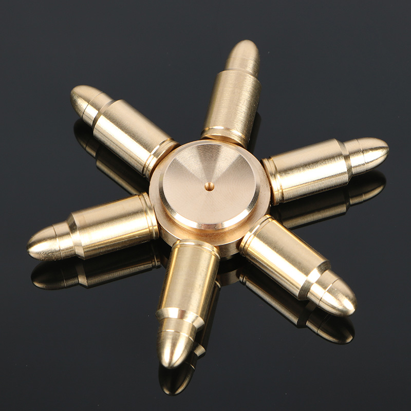Metal Bullet Gold hand spinner Top spinner Removable fidget spinner Autism ADHD Reduce Stress EDC Tri-spinner for Kids Toy mini fidget flying spinning spinner hand flying fidget spinner top toys for autism anxiety stress release toy great funny gift
