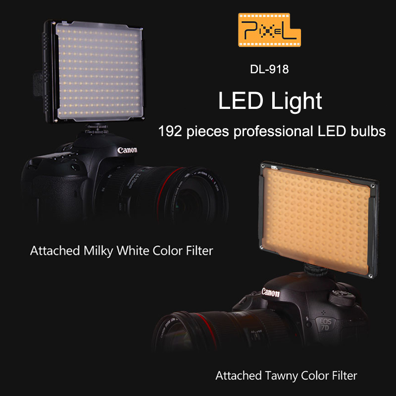 Pixel DL 918 192pcs LED Video lamp photography studio Lighting 5600K for Canon Nikon Sony Panasonic
