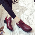 shoes Woman leather Oxfords lace-up genuine leather shoes Women winter shoes