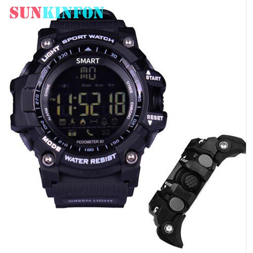 2017 NEW Smart Watch Wristwatch KX16 Waterproof IP67 Outdoor SmartWatch Pedometer Wearable Device for iPhone 7