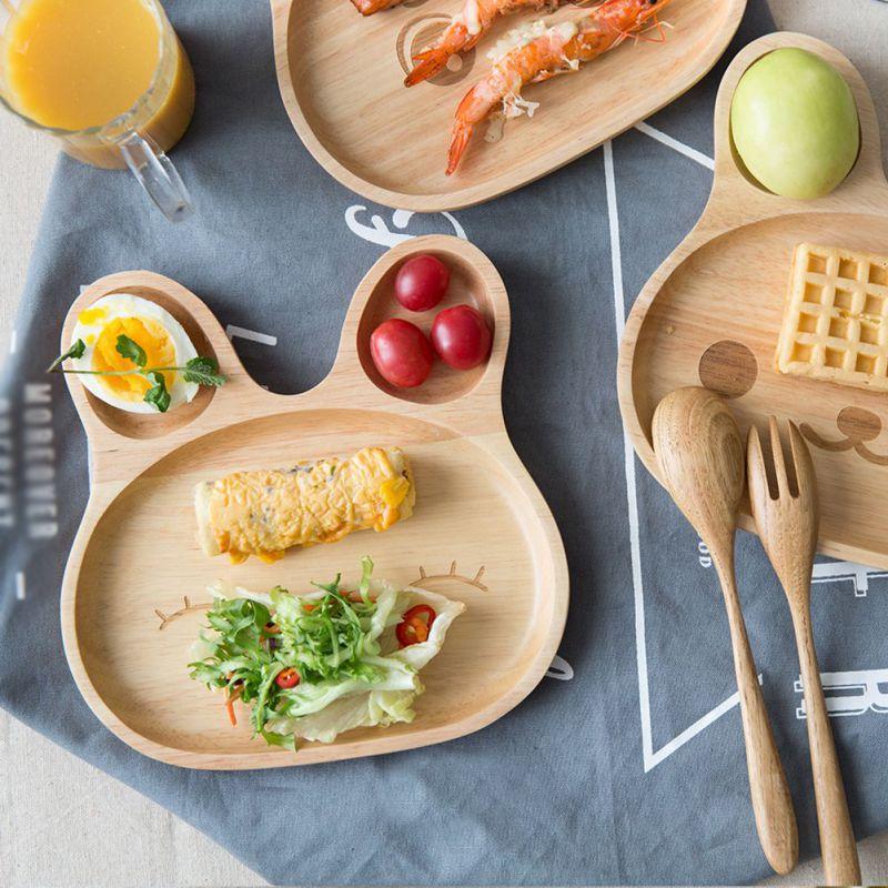 Napperons en bois pour cuisine Table dîner assiette dessin animé lapin thé Place tapis lapin visage motif Snack boisson plateau 6CD016