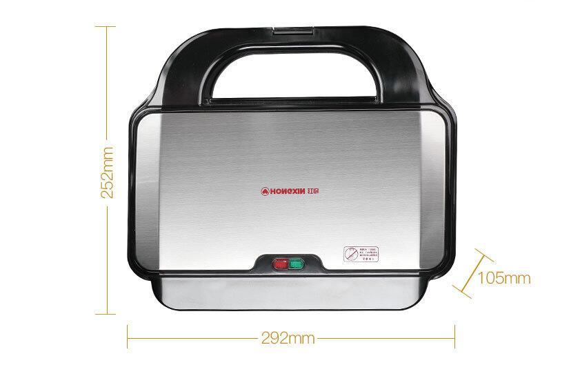 Máquina eléctrica doméstica para hacer waffles, sandwichera, máquina de sándwich ajustable con temperatura, 220 V, SW-93 de herramientas para electrodomésticos de cocina - 4