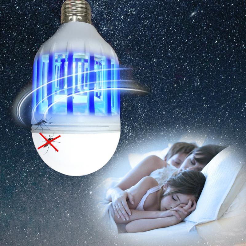 전자 모기 킬러 전구 야간 조명 e27 220 v/110 v 15 w/9 w led 전구 구충제 비행 벌레 곤충 킬러 트랩 야간 램프
