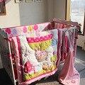 Balão de fogo Imprime Fundamento Do Bebê Bordado Impressão Berço Cama Conjunto Quilt Bumper cama Saia da Cama Colchão Capa terno do bebê 130x70 CM