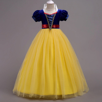 High Quality Girl Elsa Dress Princess Cinderella Snow White Fancy Kids Clothes For Party Kids Cartoon