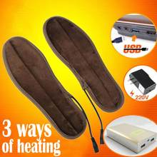 USB Electric Heated Insoles Soles Winter Plush Fur Heating for Men Women Shoes Boots Keep Feet Warm and Comfortable(China)