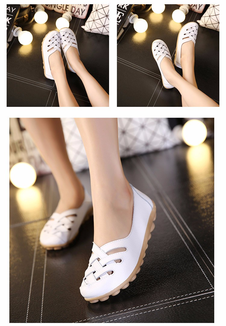 Hot Sale 2016 Spring New PU Leather Woman Flats Moccasins Comfortable Woman Shoes Cut-outs Leisure Flat Woman Casual Shoes ST181 (9)