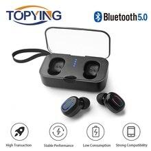 TWS 5.0 Bluetooth Earphone Wireless Headphone Waterproof Earbuds Sport Mini Bluetooth Headset with Microphone for Iphone Xiaomi bluetooth earphone wireless headphone sport stereo earbuds for iphone 7 xiaomi bluetooth earpiece with microphone