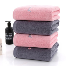 Pink Embroidery Large Cotton Bath Shower Towel Thick Towels Home Bathroom Hotel For Adults Toalha de banho Serviette de bain цена