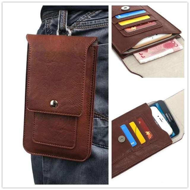 info for a49ab 95a38 US $9.99 |Universal Cell Phone Dual Layers Waist Bag Soft PU Leather  Carrying Cases For Kingzone N5 K2 S2 N3 K1 Z1 Z1 Plus K1 Turbo 4G LTE on ...