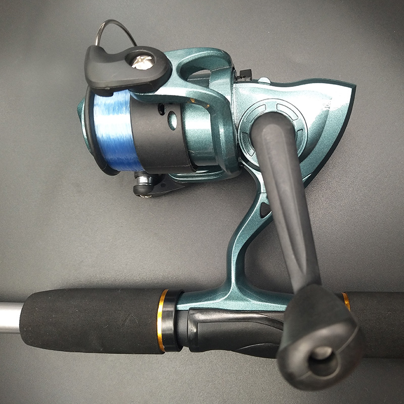 fishing rod combo spinning reel full kit set Line Lures hooks jig heads weights swivels tubes grubs