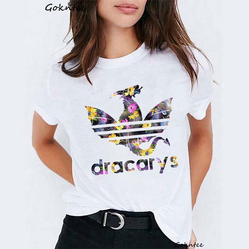 New Arrival 2019 Dracarys   T     Shirt   Women Vogue Tee   Shirt   Femme Mother of Dragons Harajuku Kawaii White Tshirt Camisetas Mjuer Top