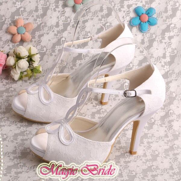 316314c3f0d Wedopus Hot Selling White Women Medium Heels Pumps Size 9 Wedding Shoes  BridalUSD 45.00 pair