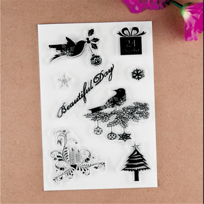 2017 new 11X16cm BEAUTIFUL DAY Scrapbook DIY Photo Album Account Transparent Silicone Rubber Clear Stamps