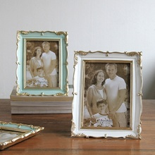 American vintage Three colors with gold border 5 inch 6 7 8 photo frame  home decoration ornament