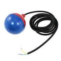 Liquid Water Level Sensor Blue Red Plastic Float Ball W 3 Meters Cable