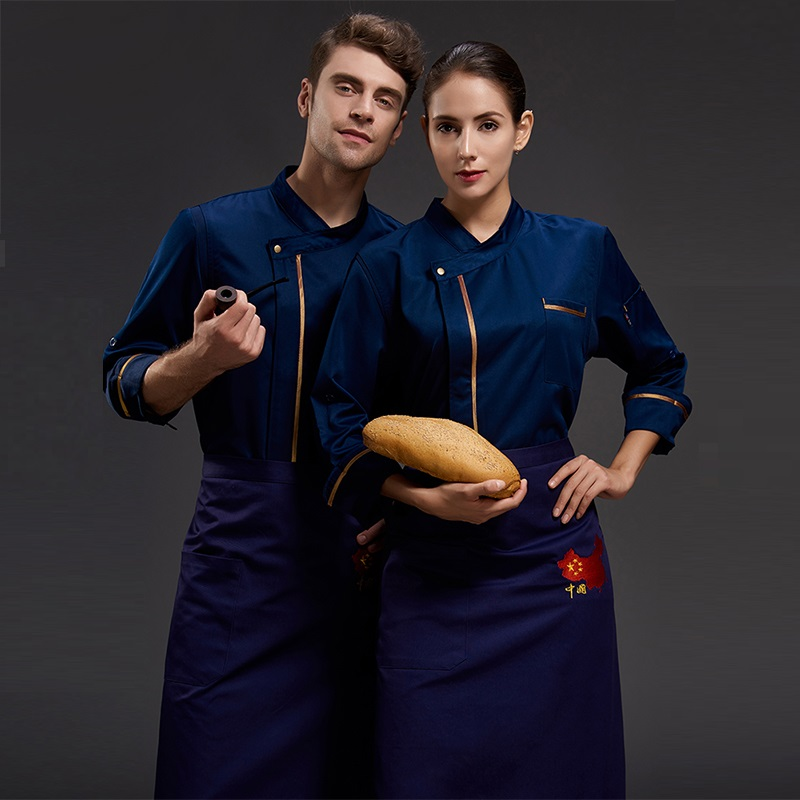 Restaurant Uniforms Shirts Long Sleeve Men Women Kitchen Chef Uniforms,Food Service Work Clothes Men Professional Cooker Coat