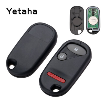 Yetaha 2pcs 433.9Mhz Remote Control Keyless Key Fob For Honda Pilot Element Civic EX LX 2001-2005 NHVWB1U523 2+1 Buttons