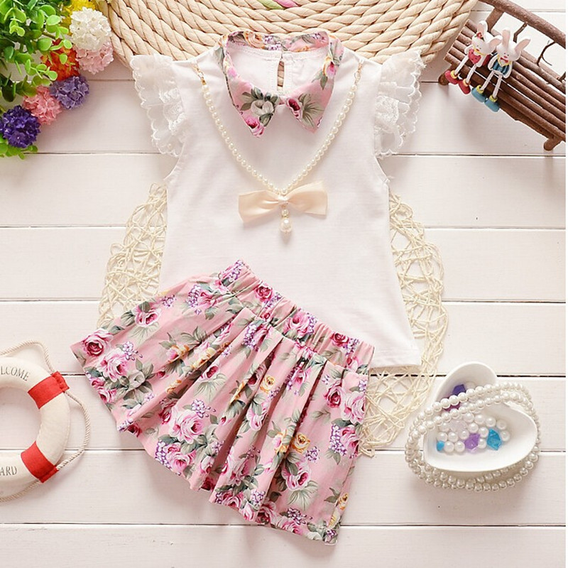 Toddler Infant Baby Girl Floral Dress Outfits Autumn Tops Skirt Clothes Set UK