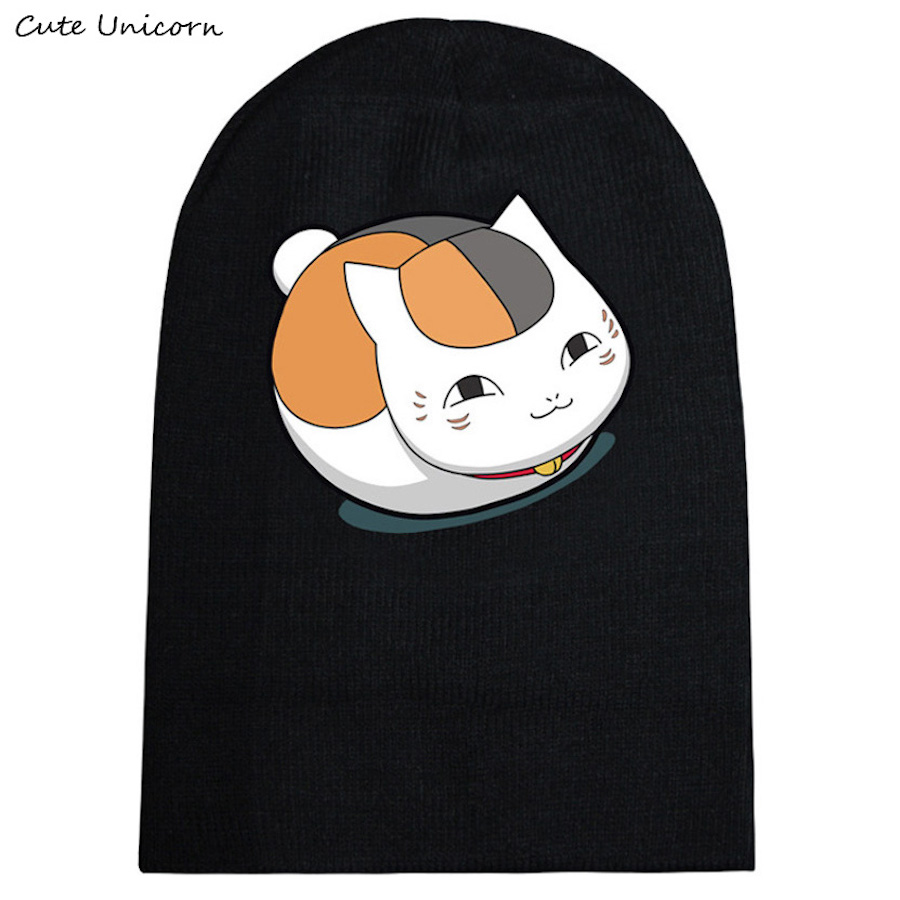Natsume Yuujinchou autumn winter hat beanies unisex knitted cap casual hats women hip hop Skullies anime beanie female gorro