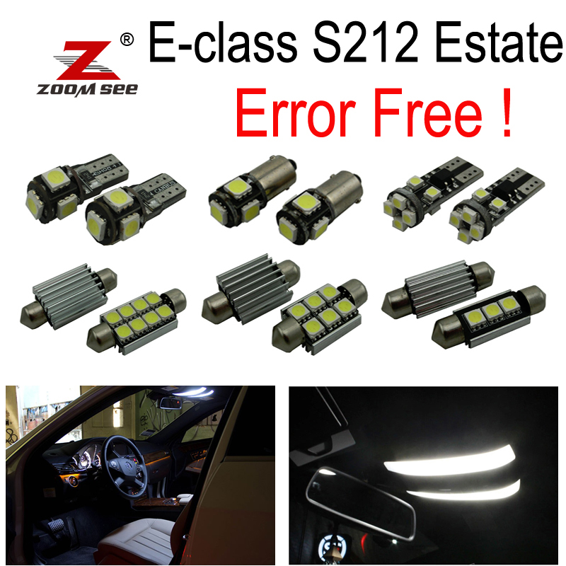 26pcs LED bulb Interior dome Light Kit For Mercedes E class S212 Estate Wagon E200 E250 E300 E350 E400 E500 E550 E63 AMG (10-15) 10pcs error free led lamp interior light kit for mercedes for mercedes benz m class w163 ml320 ml350 ml430 ml500 ml55 amg 98 05