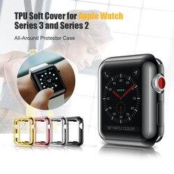 Tampa transparente para A Apple Caso Relógio 38mm 42mm Caso Capa Mole para Apple Série Relógio 3 2 1 TPU Macio e Fino Proteger Cobertura