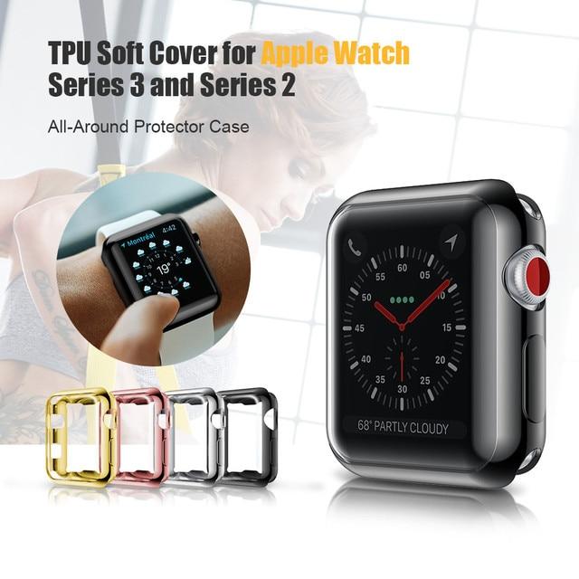 1ce0db0b48f Tampa transparente para A Apple Caso Relógio 38mm 42mm Plástico Macio Capa  para Apple Série Relógio