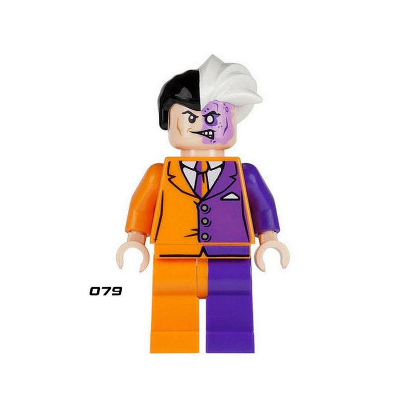 Single Sale Super Heroes Star Wars Two Face 079 Model Mini Building Blocks Figure Bricks Toys Gifts Compatible Legoed Ninjaed