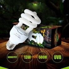 Рептилия UVB 5,0 10,0 лампа для черепахи ящерица, змея Lguanas тепло кальция лампа энергосберегающий светильник для рептилий E27