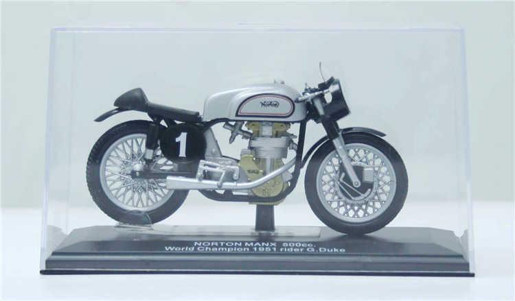 HARI 1/22 Skala Racing Motorbike NORTON RIAN MANX 500cc Juara Dunia 1951 Diecast Logam Motor Model Mainan Untuk Koleksi
