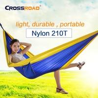 2016NEW ArriveCR 210T Nylon Hammock Parachute Single With Straps Garden Outdoor Camping Travel Hammock Swing Sleeping